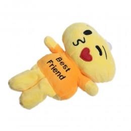 Maskotka przytulanka dla dzieci z przyssawką EMOJI buźka i serce