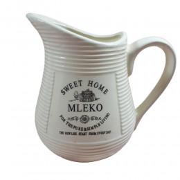 Mlecznik dzbanuszek na mleko ceramiczny ecru Sweet Home 600 ml