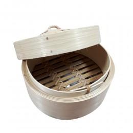 Mały bambusowy parownik BAMBOO / parowar do gotowania na parze