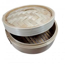 Bambusowy parownik BAMBOO okrągły / parowar do gotowania na parze