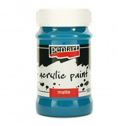 Farba akrylowa matowa 100 ml Pentart niebieska