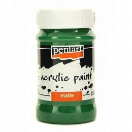 Farba akrylowa matowa 100 ml Pentart zielony