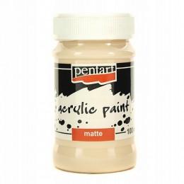 Farba akrylowa matowa 100 ml Pentart beżowa