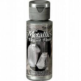 Farba akrylowa metaliczna 59 ml srebrna / farba Dazzling Metallics