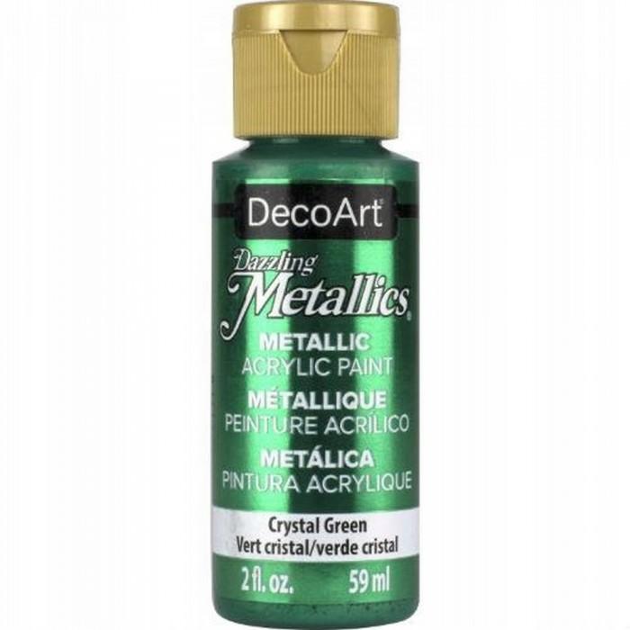 Farba akrylowa metaliczna 59 ml zielona kryształowa Dazzling Metallics