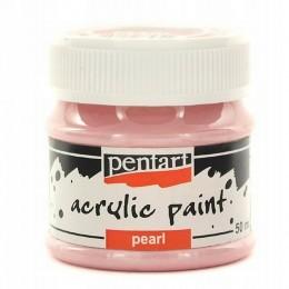 Farba akrylowa perłowa 50 ml PENTART farba różowa