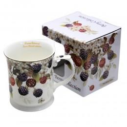 Duży ceramiczny kubek do kawy na prezent JEŻYNY 380ml