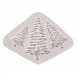 Decoupage forma foremka silikonowa choinki choinka glina żywica