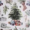 Papierowa serwetka do decoupage Boże Narodzenie choinka święta