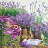 Papierowa serwetka do decoupage kwiaty lawenda 1 szt.