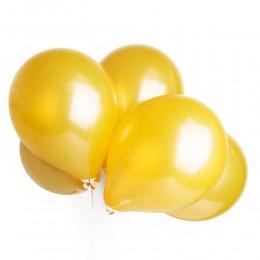 Balony ZŁOTE 12 szt. karnawał sylwester wesele