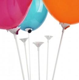 Patyczki z koszyczkami do balonów 12 szt.