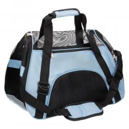 Niebieska torba transportowa dla psa kota