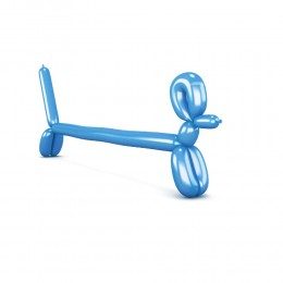 Niebieskie balony do modelowania 20 szt. + pompka