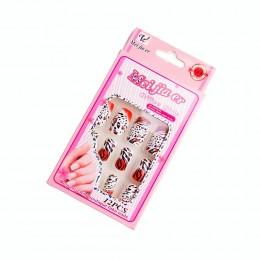 Sztuczne paznokcie gotowe tipsy 12 szt. TYGRYS