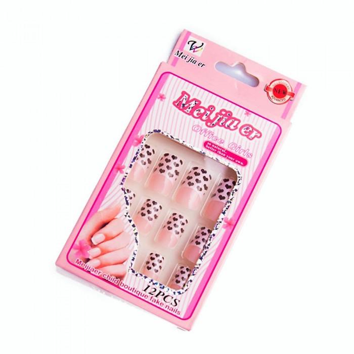 Sztuczne paznokcie gotowe tipsy 12 szt. + klej