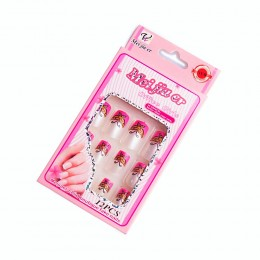 Sztuczne paznokcie gotowe tipsy 12 szt. MOTYLKI