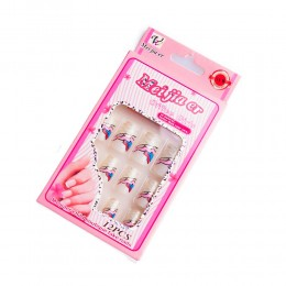 Sztuczne paznokcie gotowe tipsy 12 szt. FALE