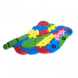 Drewniane puzzle dla dzieci CZOŁG