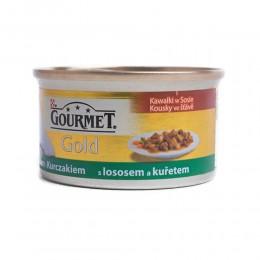 Gourmet Gold z łososiem i kurczakiem 85g