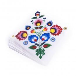 Serwetki papierowe FOLK - kwiaty łowieckie białe