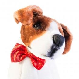 Mucha muszka dla psa kota czerwona w białe kropeczki