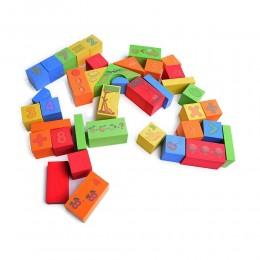 Edukacyjne klocki piankowe dla dzieci 39 el.