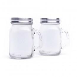 Przyprawnik szklany 2 el. Solniczka + Pieprzniczka