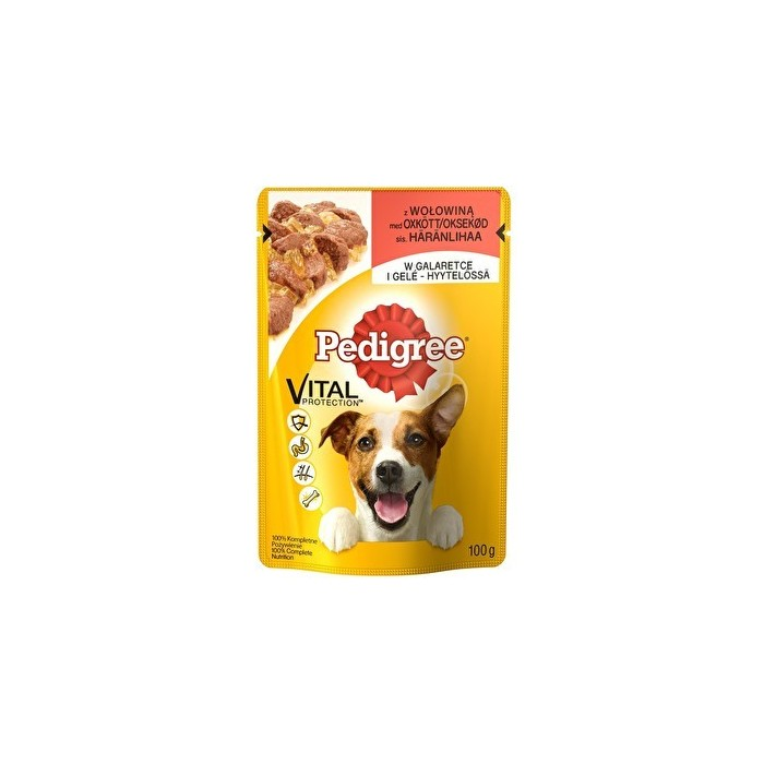 Karma dla psa Pedigree wołowina w galaretce 100g