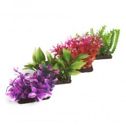 Mała sztuczna roślina do akwarium 9x9cm