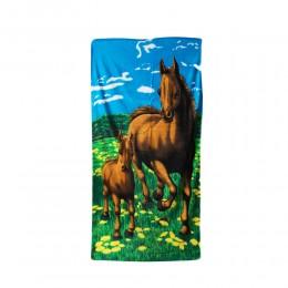 Duży ręcznik plażowy kąpielowy KOŃ