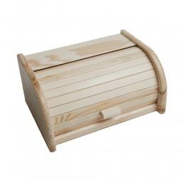 Mały drewniany chlebak, pojemnik na pieczywo z żaluzją