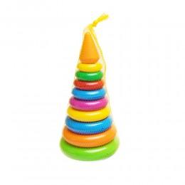 Piramidka WIEŻA Z KÓŁEK plastikowa zabawka edukacyjna