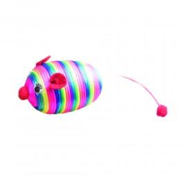 Myszka dla kota z kolorowego sznurka
