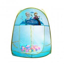 Namiot dla dzieci z piłeczkami 50 szt. KRAINA LODU 80x80x100cm