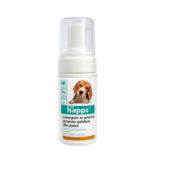 Szampon dla psa w piance HAPPS środek przeciw pchłom dla psów