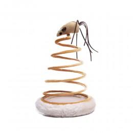 Mysz na sprężynie - interaktywna zabawka dla kota