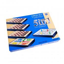 Duży zestaw 5 gier planszowych dla całej rodziny