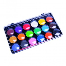 Farby wodne dla dzieci w pastylkach 18 kolorów