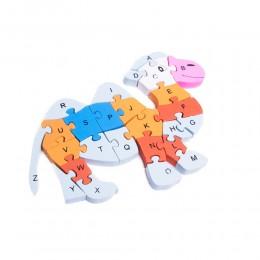 Klocki puzzle drewniane dla dzieci WIELBŁĄD