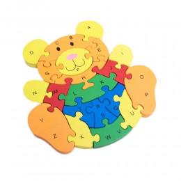 Klocki puzzle drewniane dla dzieci MIŚ