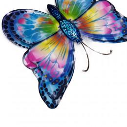 Niebieskie motylki motyle 3D - ozdoba na ścianę