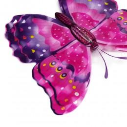 Różowe motyle trójwymiarowe 6D