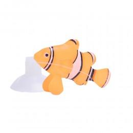 Świecąca sztuczna rybka silikonowa NEMO ozdoba do akwarium