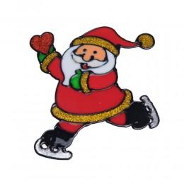 MIKOŁAJ naklejka żelowa świąteczna na szybę niebrudząca