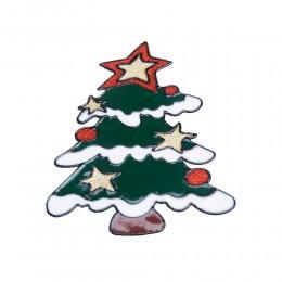 CHOINKA naklejka żelowa świąteczna na szybę niebrudząca