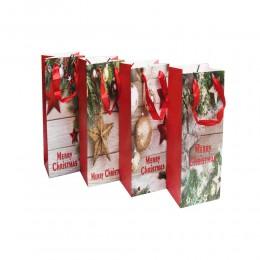 Świateczna papierowa torebka torba na prezenty
