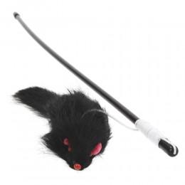 Plastikowa wędka dla kota z myszką