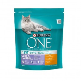 Karma dla kota Purina ONE Coat & Hairball 800g
