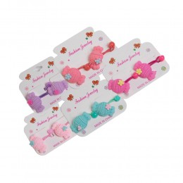 Pastelowe gumki do włosów dla dziewczynki CUKIEREK 2szt.
